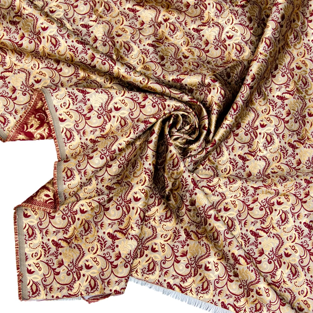 〔1m切り売り〕インドの伝統模様布〔幅約152cm〕の写真