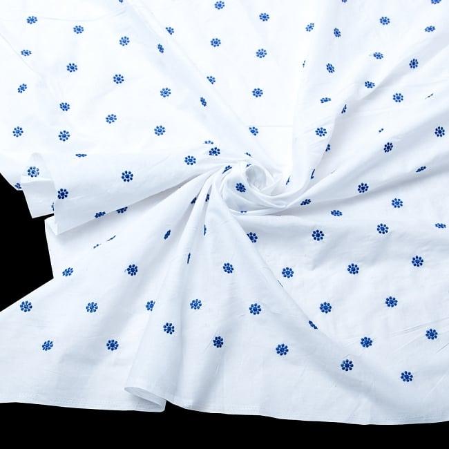 〔1m切り売り〕伝統模様刺繍コットンクロス〔幅約104cm〕の写真