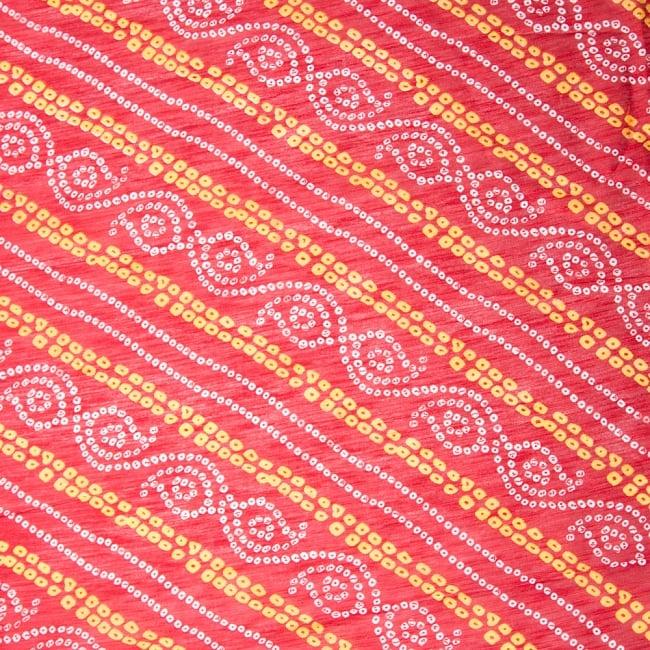 〔1m切り売り〕インドの伝統模様カラフルクロス〔幅約110cm〕 2 - 布を広げてみたところです。横幅もしっかり大きなサイズ。