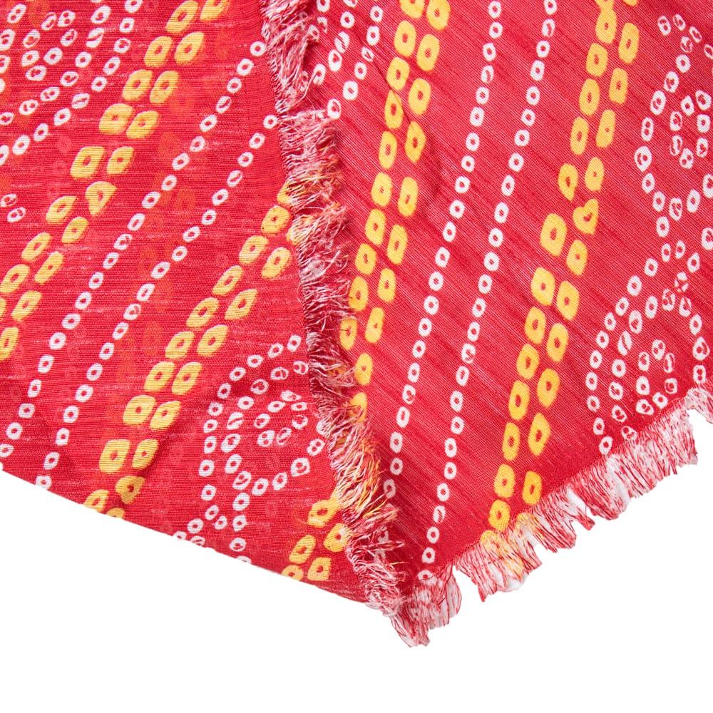 〔1m切り売り〕インドの伝統模様カラフルクロス〔幅約110cm〕 6 - 裏面の様子です。