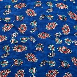 〔1m切り売り〕インドの伝統と不思議が融合 おもしろデザイン布〔108cm〕 - ラジャスタンの伝統楽器たち