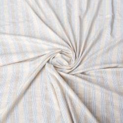 〔1m切り売り〕コットンのラリーキルトスタイルのストライプ布〔約106.5cm〕