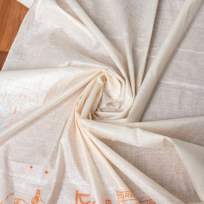 〔1m切り売り〕インド綿のナチュラルファブリック〔幅約96cm〕の写真