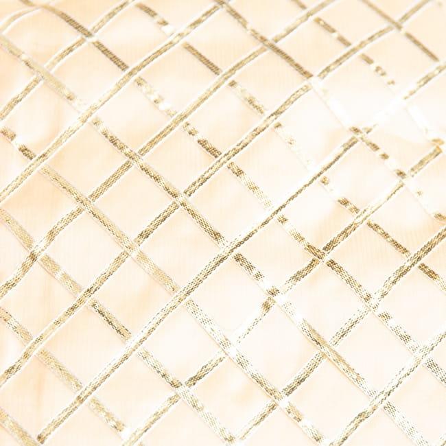 〔1m切り売り〕インドの伝統模様布〔幅約105cm〕 10 - 選択3:ベージュ