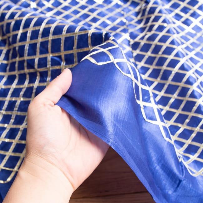 〔1m切り売り〕インドの伝統模様布〔幅約105cm〕 5 - このような感じの生地になります。手芸からデコレーション用の布などなど、色々な用途にご使用いただけます!