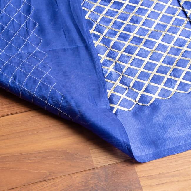 〔1m切り売り〕インドの伝統模様布〔幅約105cm〕 6 - 裏面の様子です、