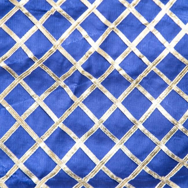 〔1m切り売り〕インドの伝統模様布〔幅約105cm〕 8 - 選択1:ブルー