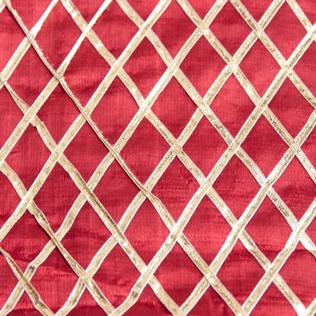 〔1m切り売り〕インドの伝統模様布〔幅約105cm〕 9 - 選択2:レッド
