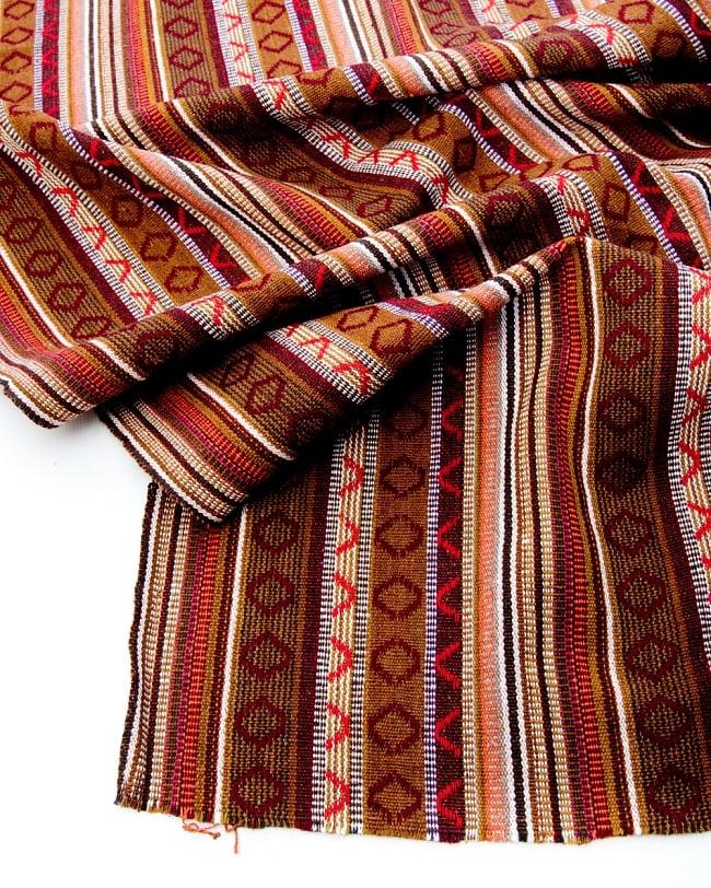 【最大の繋がった長さ1m】〔50cm切り売り〕ネパール織り生地-中厚手〔幅150cm〕 2 - 綺麗な生地です