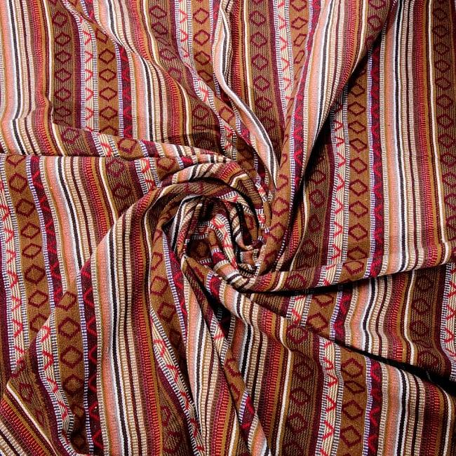 【最大の繋がった長さ1m】〔50cm切り売り〕ネパール織り生地-中厚手〔幅150cm〕 3 - 生地を近くから見てみました。