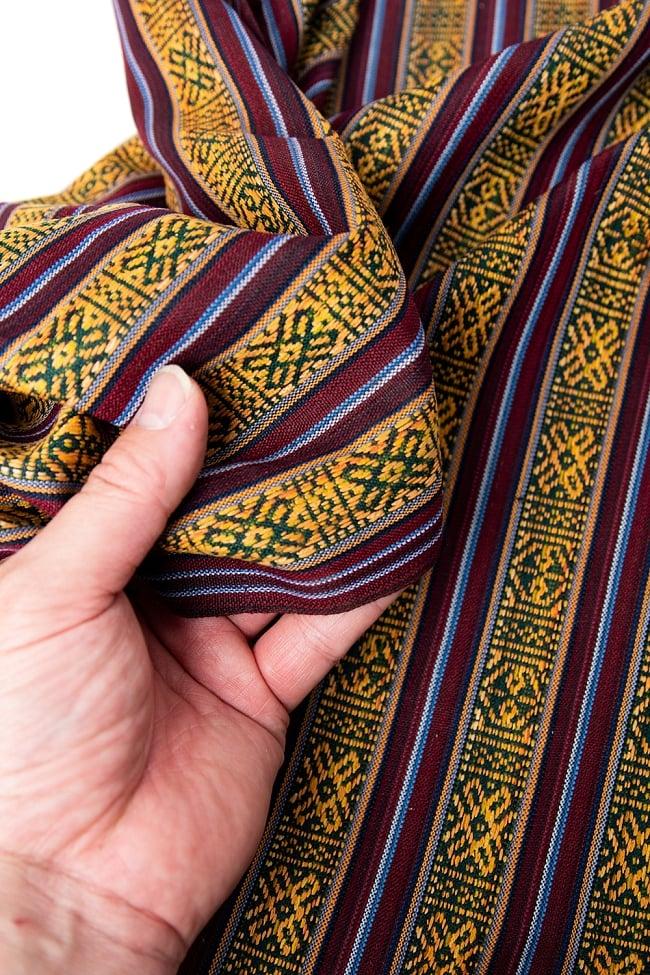 〔50cm切り売り〕ネパール織り生地-薄手 - 〔幅144cm〕 3 - 端の部分の処理はこんな感じです。