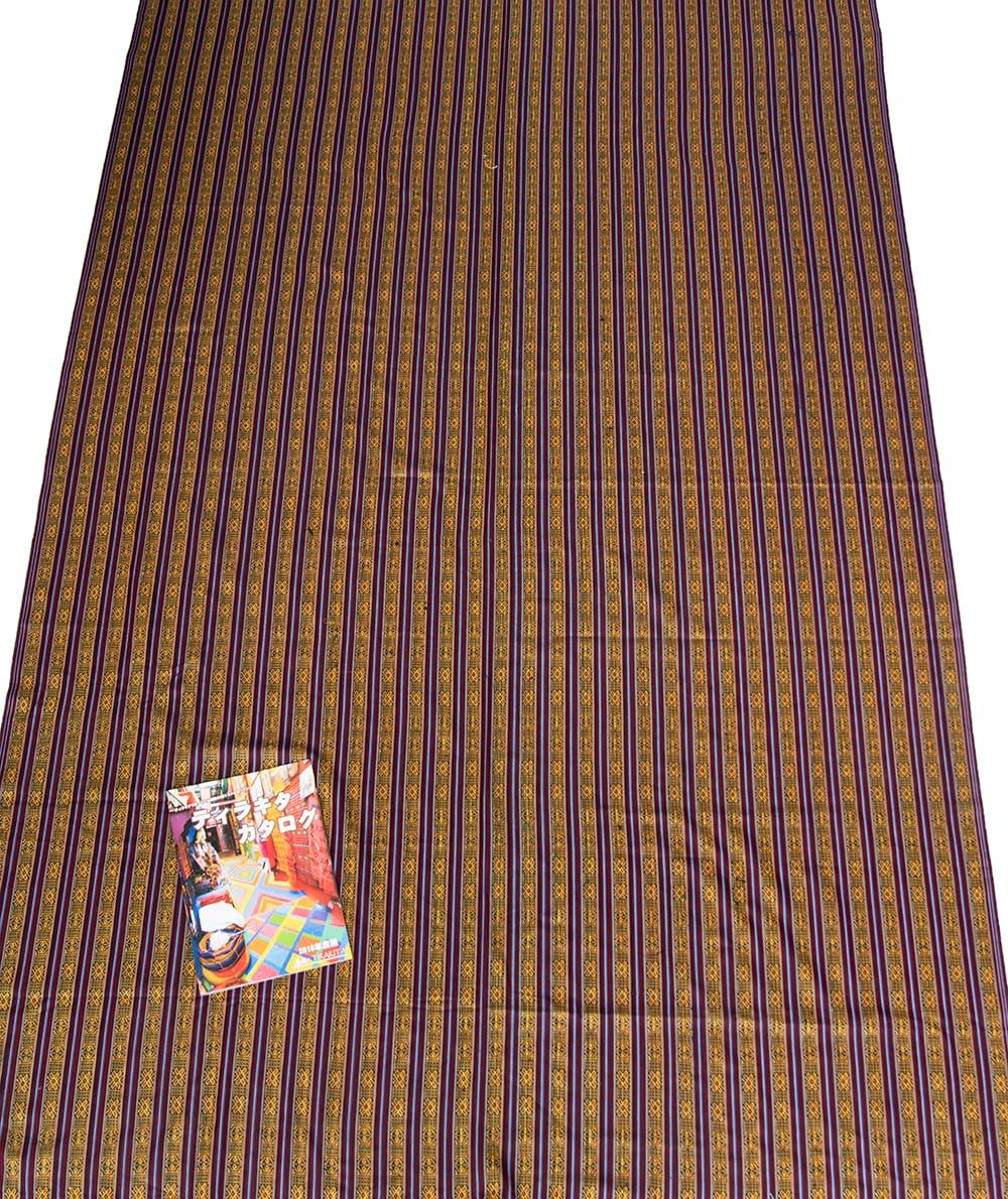 〔50cm切り売り〕ネパール織り生地-薄手 - 〔幅144cm〕 5 - 丁寧に織られたコットン生地です。ネパールから海を越えてお届けします!
