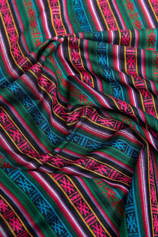 〔50cm切り売り〕ネパール織り生地-薄手 - 〔幅146cm〕 2 - 薄手のエスニック布です。