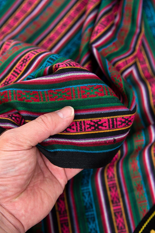〔50cm切り売り〕ネパール織り生地-薄手 - 〔幅146cm〕 3 - 各種裁縫・洋裁におすすめです。