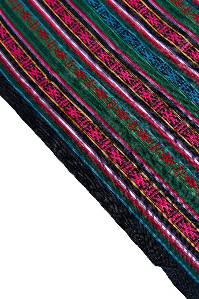 〔50cm切り売り〕ネパール織り生地-薄手 - 〔幅146cm〕 4 - 端の部分の処理はこんな感じです。