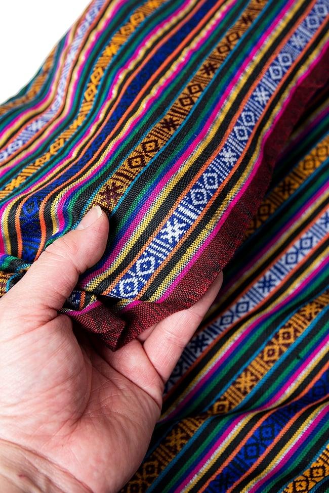 〔50cm切り売り〕ネパール伝統のコットン織り生地 薄手〔幅150cm〕 3 - 丁寧に織られたコットン生地です。ネパールから海を越えてお届けします!