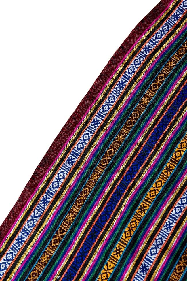 〔50cm切り売り〕ネパール伝統のコットン織り生地 薄手〔幅150cm〕 4 - 薄手のエスニック布です。