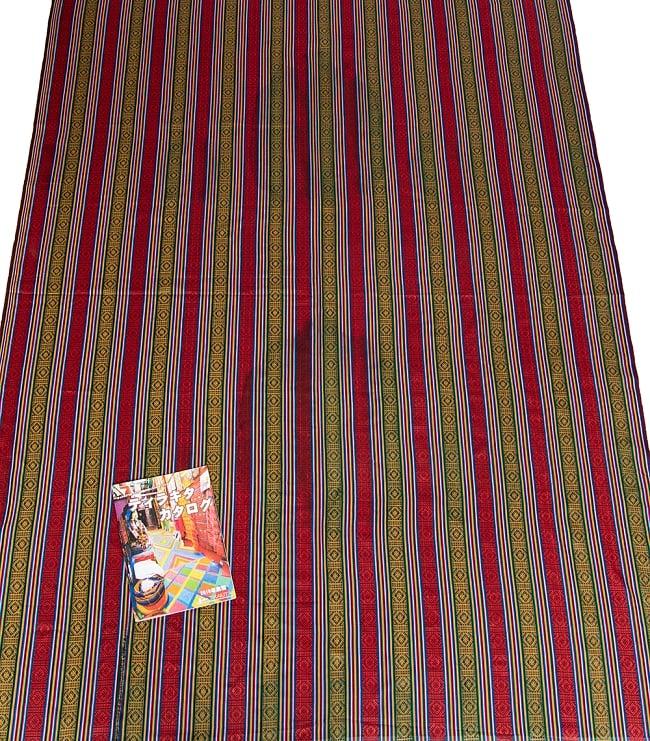 〔50cm切り売り〕ネパール織り生地-薄手 - 〔幅150cm〕 5 - 丁寧に織られたコットン生地です。ネパールから海を越えてお届けします!