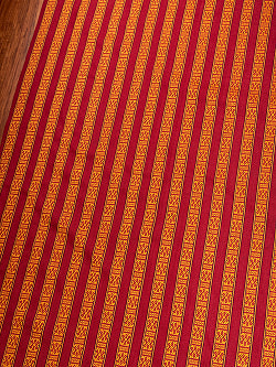〔50cm切り売り〕ネパール伝統のコットン織り生地 薄手〔幅150cm〕150
