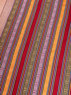 〔50cm切り売り〕ネパール伝統のコットン織り生地 厚手〔幅106cm〕106