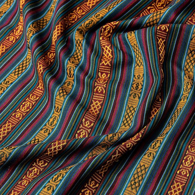 〔50cm切り売り〕ネパール伝統のコットン織り生地 薄手〔幅150cm〕 2 - 丁寧に織られたコットン生地です。ネパールから海を越えてお届けします!