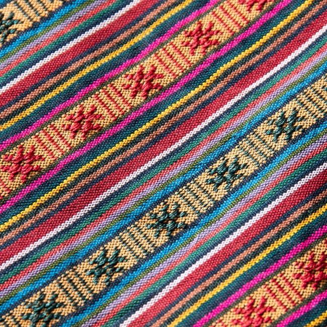 〔50cm切り売り〕ネパール織り生地-薄手-マルチカラー系〔幅150cm〕 3 - 生地を近くから見てみました。