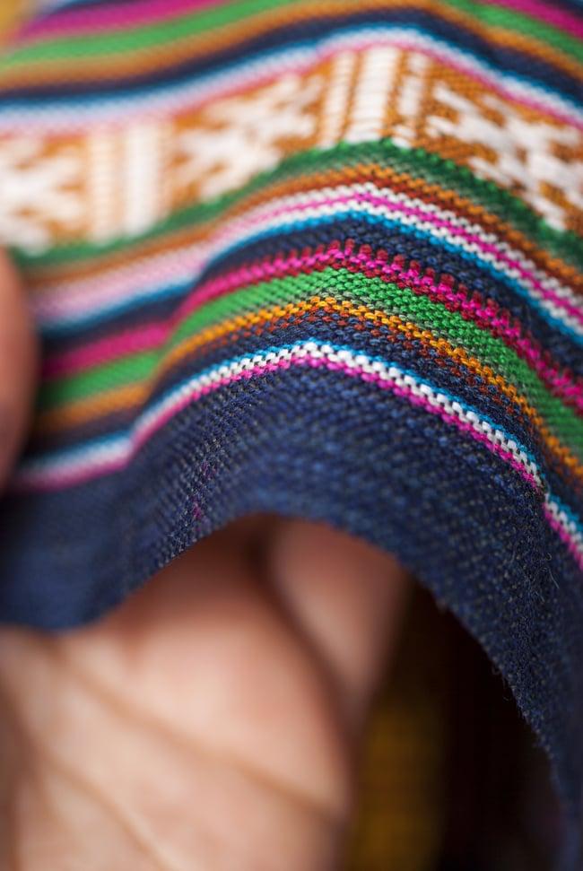 〔50cm切り売り〕ネパール織り生地-薄手〔幅155cm〕の写真4 - 薄手のエスニック布です。