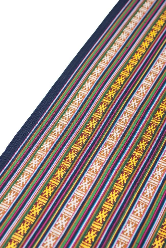 〔50cm切り売り〕ネパール織り生地-薄手〔幅155cm〕の写真5 - 端の部分の処理はこんな感じです。