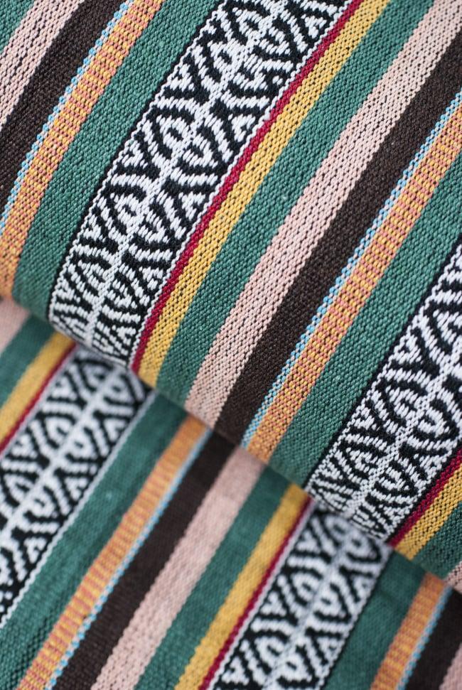 〔50cm切り売り〕ネパール織り生地-厚手〔幅120cm〕 3 - 生地を近くから見てみました。