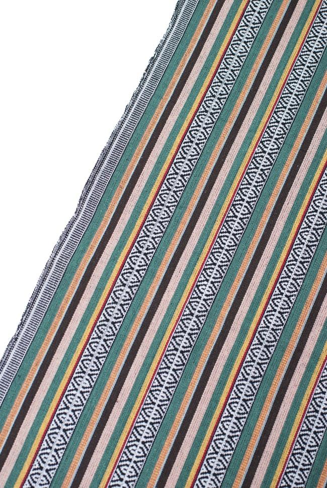 〔50cm切り売り〕ネパール織り生地-厚手〔幅120cm〕 5 - 端の部分の処理はこんな感じです。
