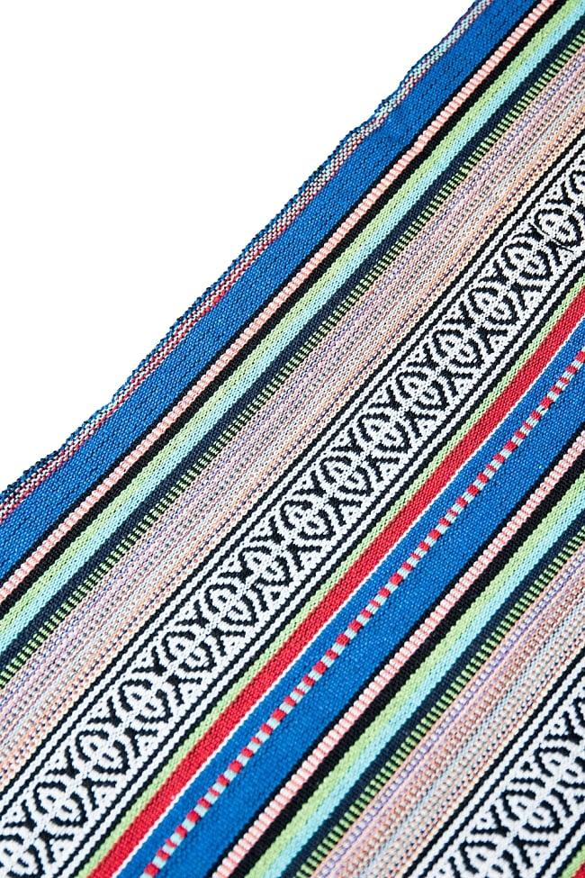 〔50cm切り売り〕ネパール織り生地-厚手〔幅120cm〕の写真4 - 端の部分の処理はこんな感じです。