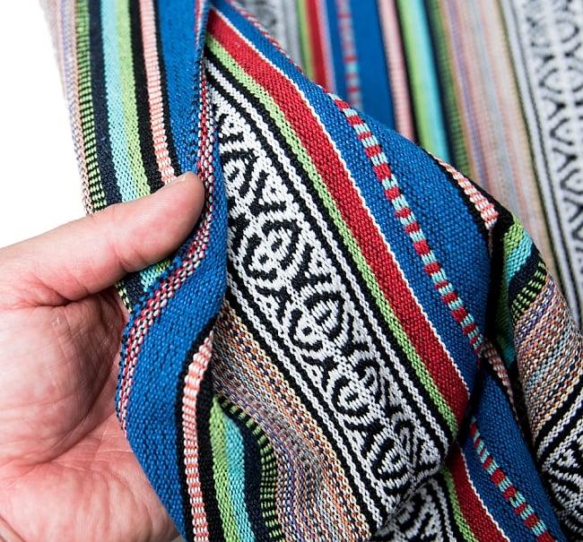 〔50cm切り売り〕ネパール織り生地-厚手〔幅120cm〕の写真6 - 素敵な質感の布地です。