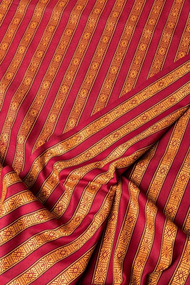 〔50cm切り売り〕ネパール織り生地-薄手〔幅150cm〕の写真3 - 生地を近くから見てみました。