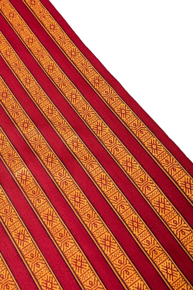 〔50cm切り売り〕ネパール織り生地-薄手〔幅150cm〕の写真4 - 端の部分の処理はこんな感じです。