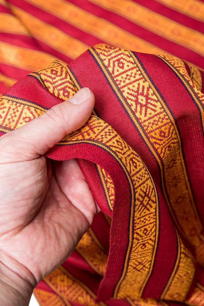〔50cm切り売り〕ネパール織り生地-薄手〔幅150cm〕の写真6 - 素敵な質感の布地です。