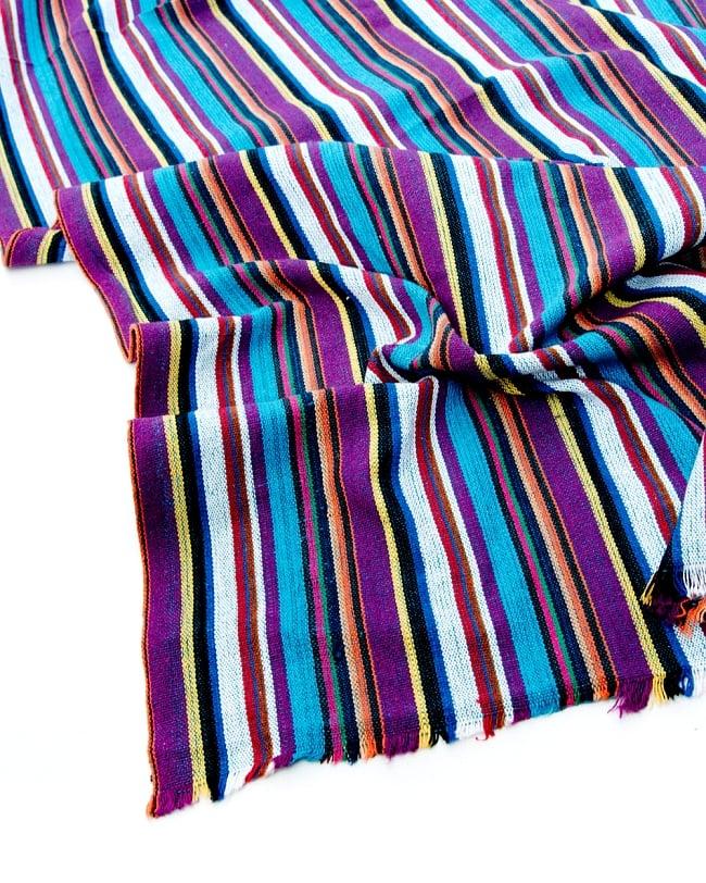 〔50cm切り売り〕ネパール織り生地-中厚手〔幅133cm〕の写真2 - 綺麗な生地です