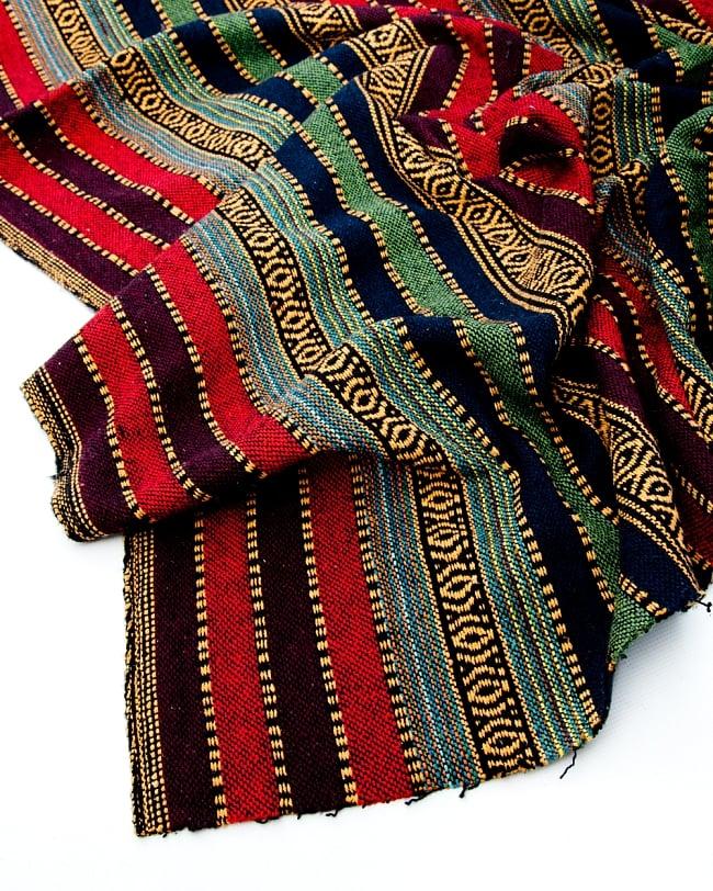 〔50cm切り売り〕裏起毛タイプ ネパール織り生地-厚手〔幅112cm〕の写真2 - 綺麗な生地です