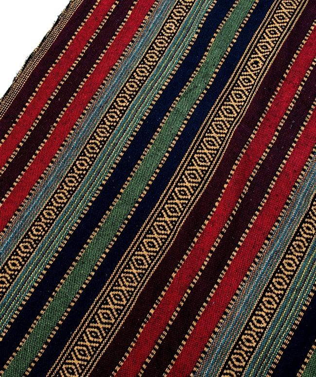 〔50cm切り売り〕裏起毛タイプ ネパール織り生地-厚手〔幅112cm〕の写真