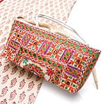 ラジャスタン刺繍ミラー付きバッグ - アイボリー