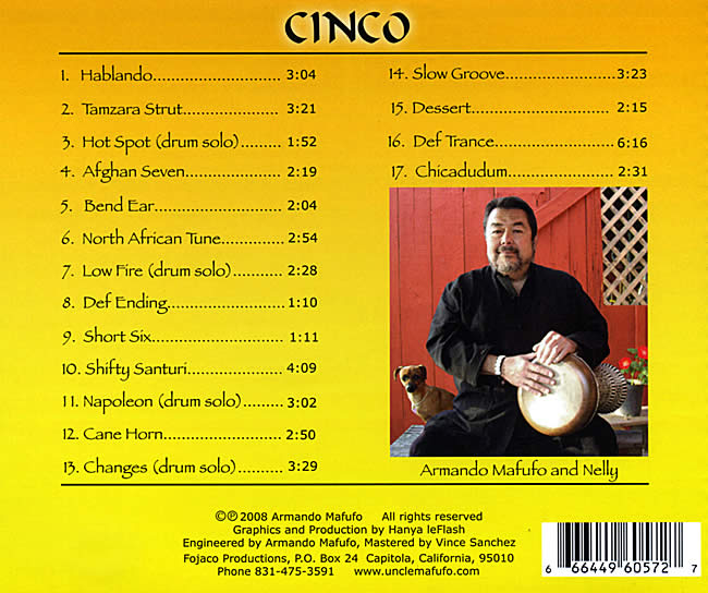 Cinco - Rhythms for Dancers - Uncle Mafufoの写真2 -