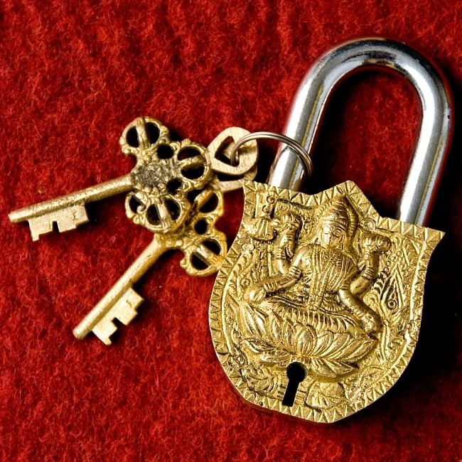 アンティック風ラクシュミー南京錠の写真