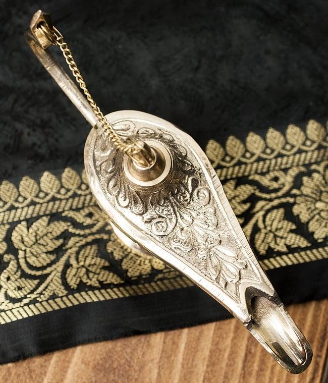 アラジンの魔法のランプ 【14cm×8cm】の写真2 - 上からみてみました。アラビアンな感じですね