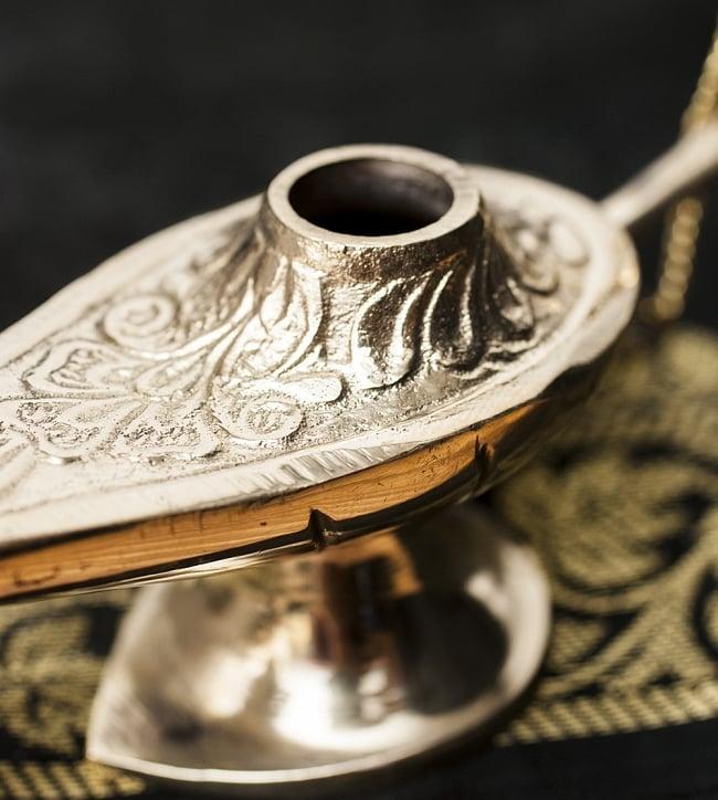 アラジンの魔法のランプ 【14cm×8cm】の写真3 - 蓋を外してみました。オイルランプとしてもお使いいただけます。