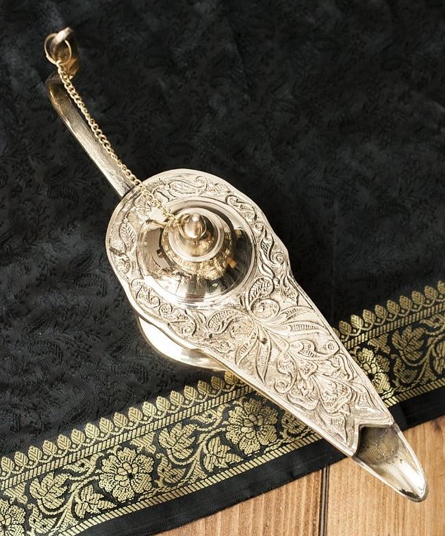 アラジンの魔法のランプ 【25.5cm×15cm】 2 - 上からみてみました。アラビアンな感じですね