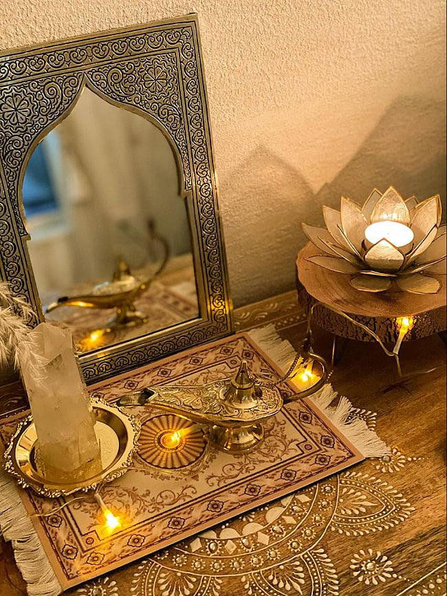 アラジンの魔法のランプ 【28cm×17cm】 6 - お客様が使用写真を送ってくれました。とっても素敵です。