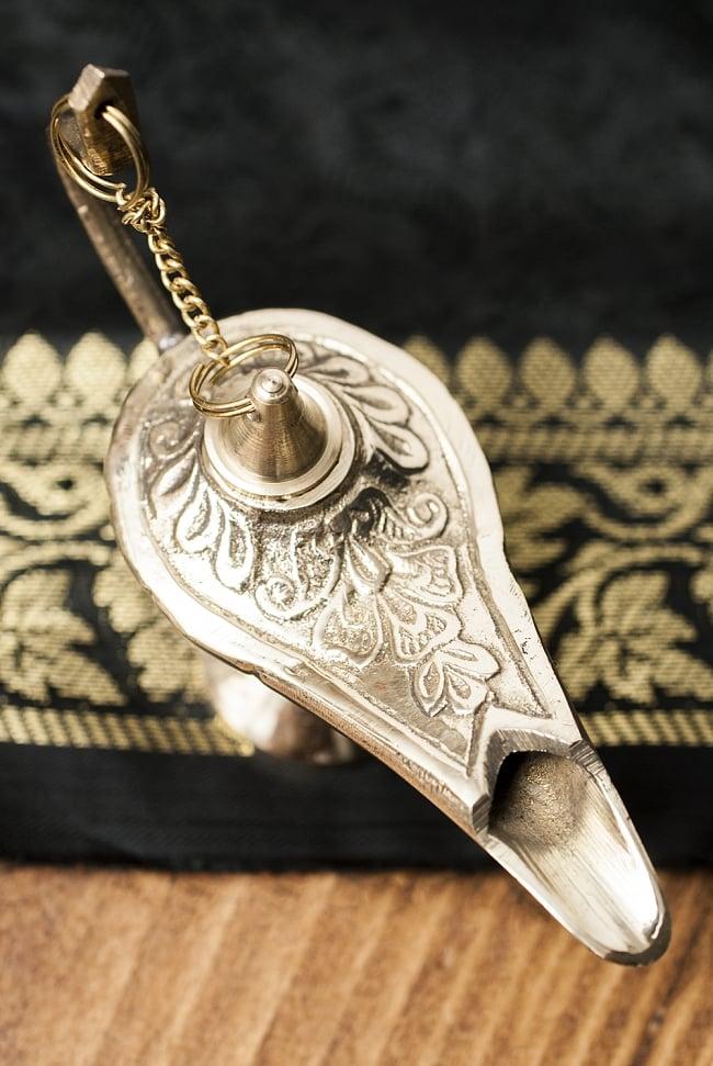 アラジンの魔法のランプ 【10cm×7cm】の写真2 - 上からみてみました。アラビアンな感じですね