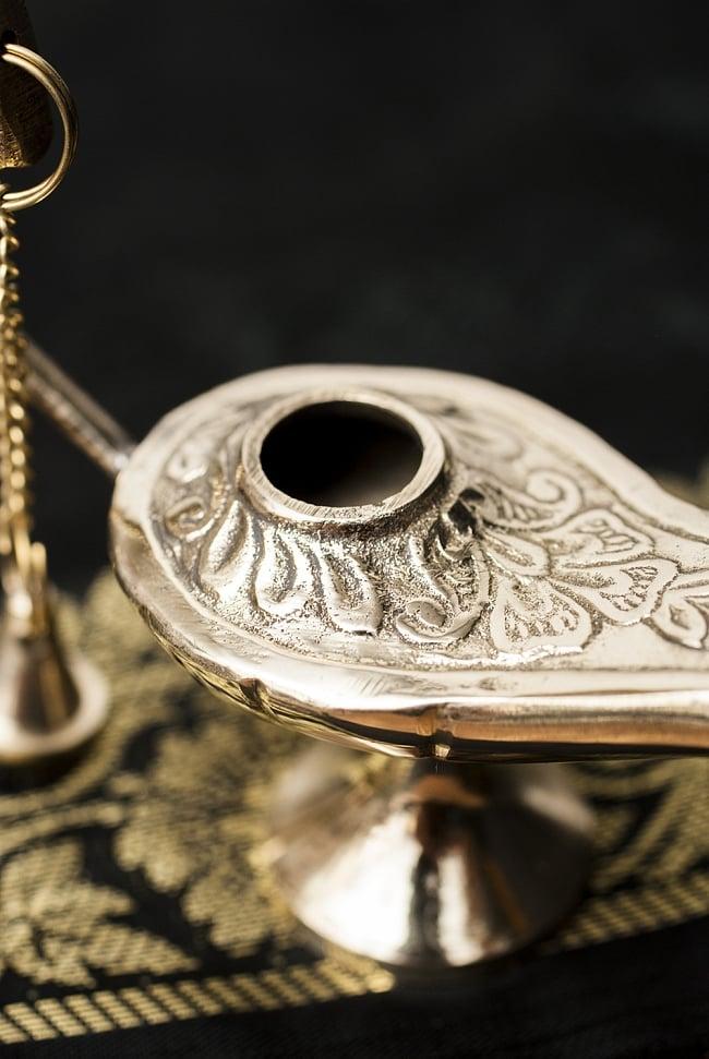 アラジンの魔法のランプ 【10cm×7cm】の写真3 - 蓋を外してみました。オイルランプとしてもお使いいただけます。