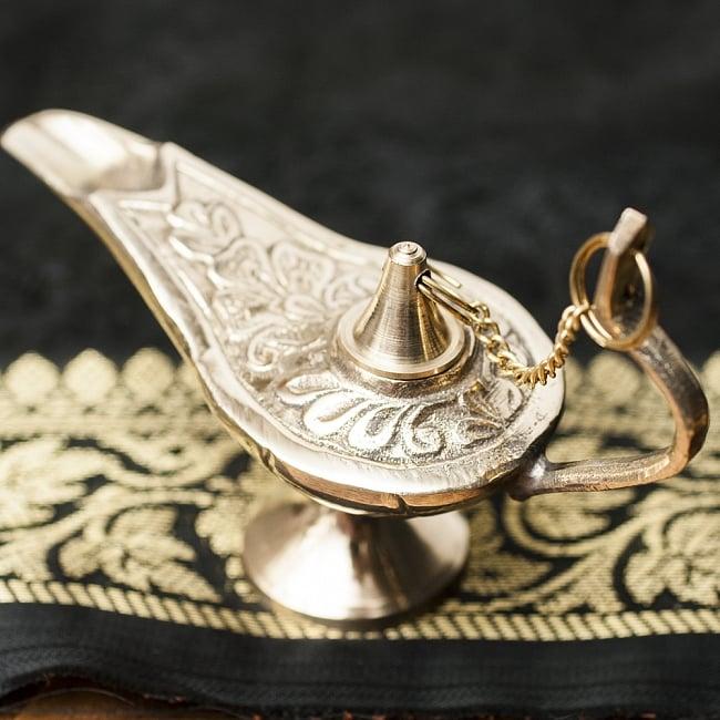 アラジンの魔法のランプ 【10cm×7cm】の写真4 - グラマラスな曲線が美しいです。