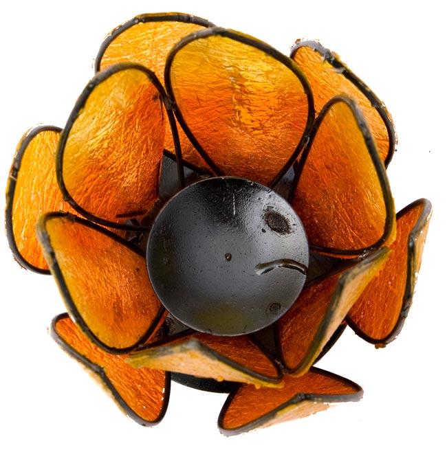 ロータスのキャンドルスタンド -オレンジの写真3 - 真上から撮ってみました。