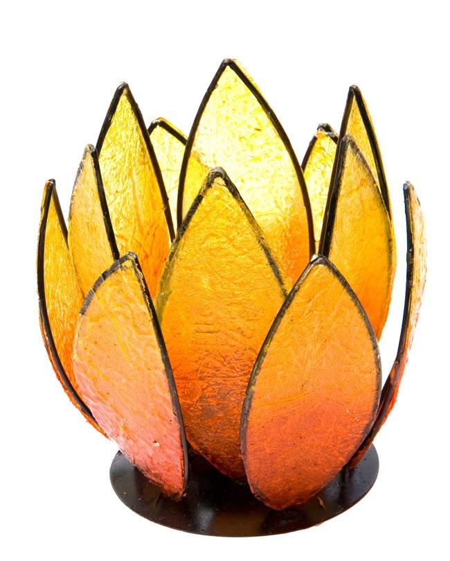 ロータスのキャンドルスタンド -オレンジの写真
